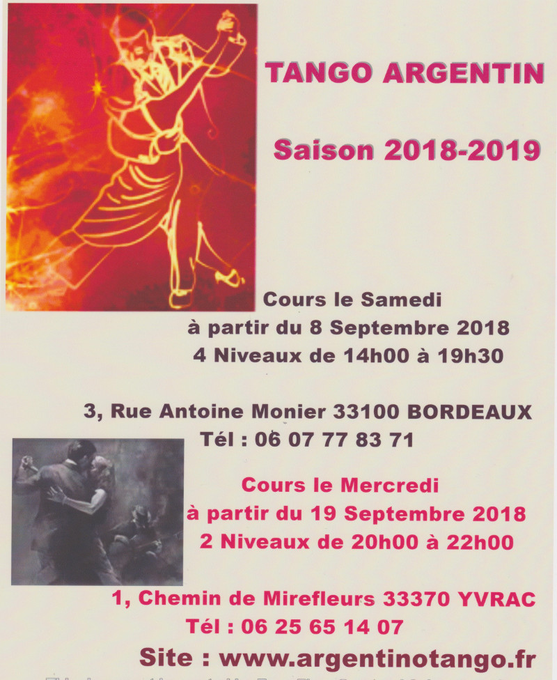 Association tango argentin Bordeaux